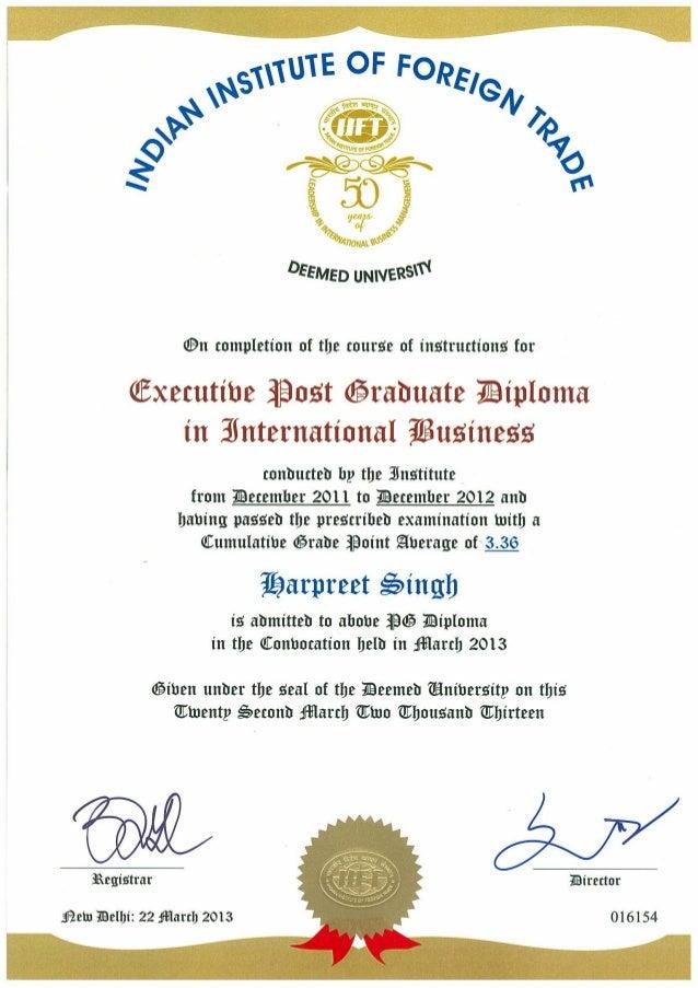 Iift Degree Certificate
