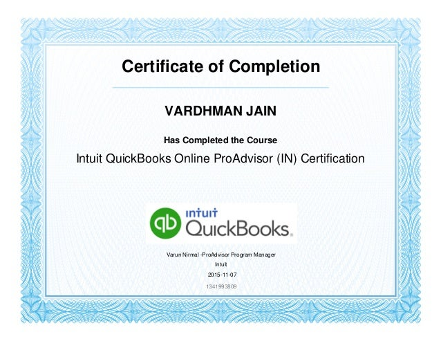 Intuit Quickbooks Online Proadvisor In Certification