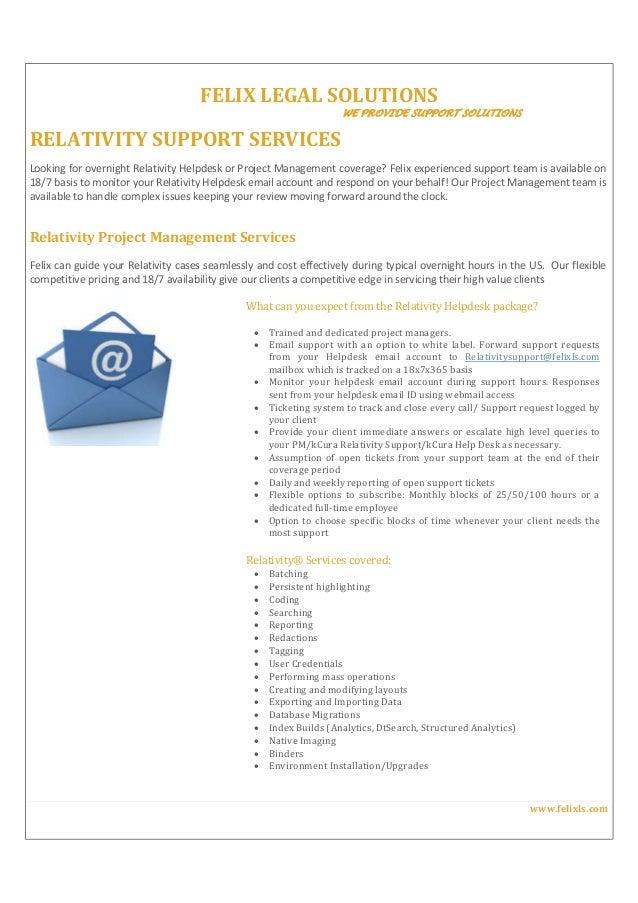 Relativity Support Flyer