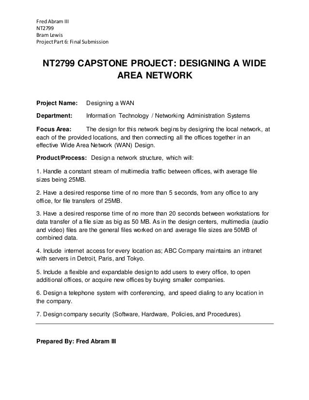 nt2799 network systems administration capstone project