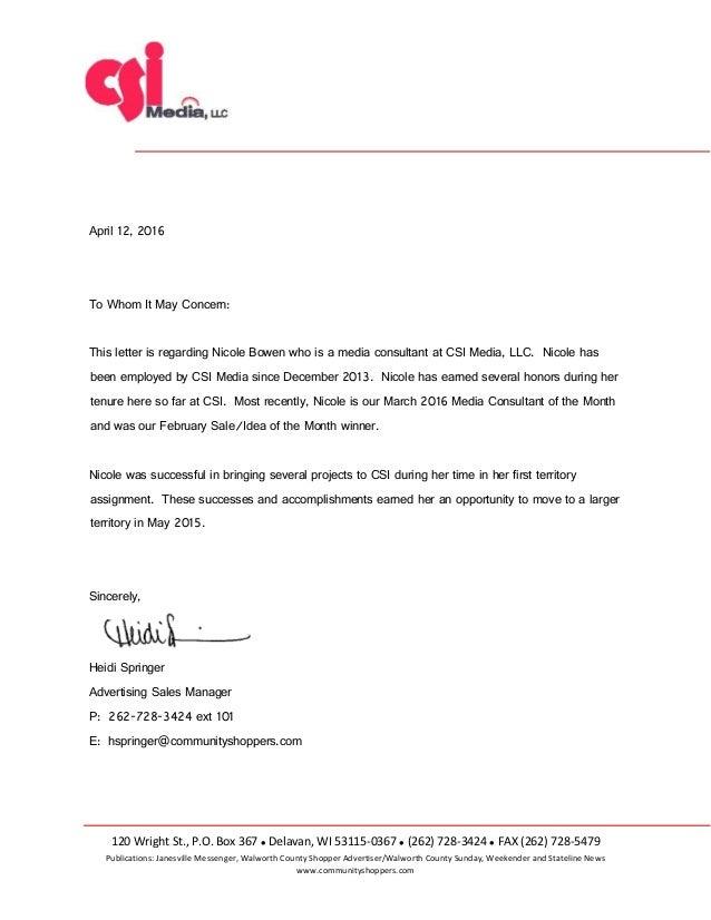 nicole referral letter