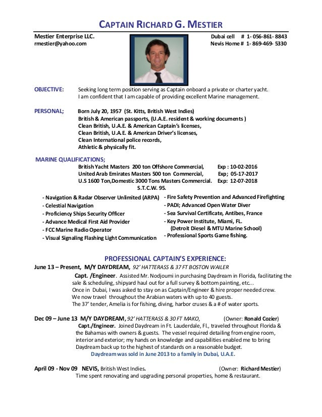Cruise specialist sample resume