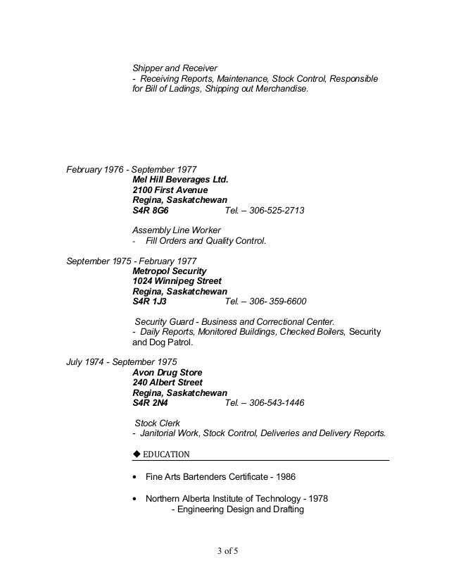 Mr. DON NEITHERCUT long resume 3 ref