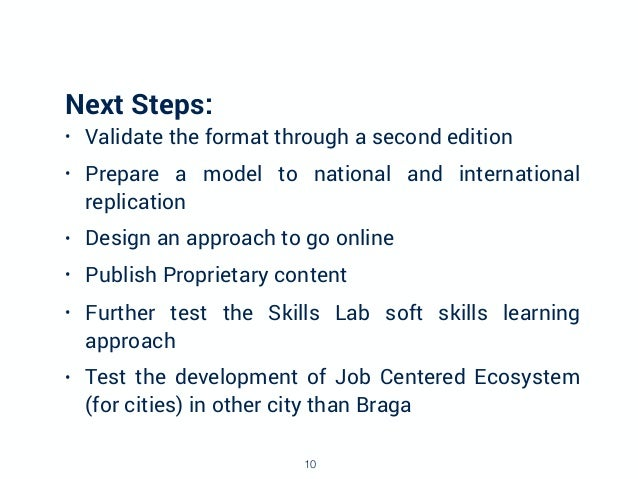 Next Steps: • Validate the format through a second edition • Prepare a model to national and international replication • D...