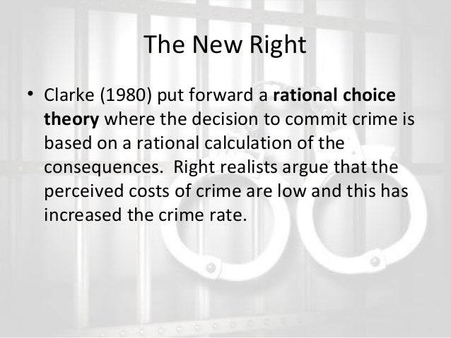 left and right realism essay This essay will use left and right realism beliefs leading to crime to debate why people turn to drug dealing, trafficking and conservation whilst using examples of strain theory and rational thought theory to evaluate the decision to turn to drugs in england and wales during 1980 to the.
