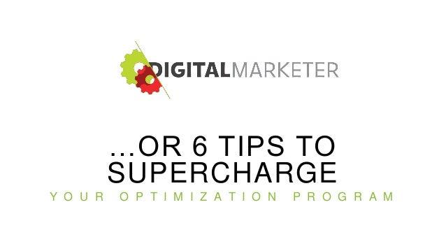 Applying Optimization Fundamentals For Major Gains Slide 2