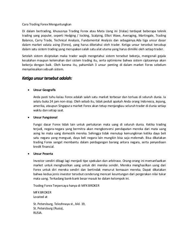dasar-dasar perdagangan forex di indonesia