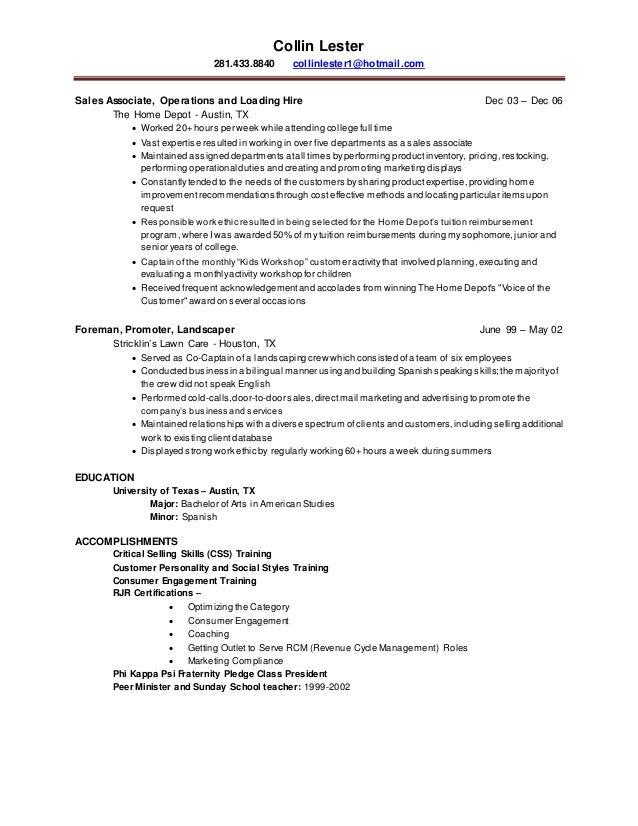 collin lester resume