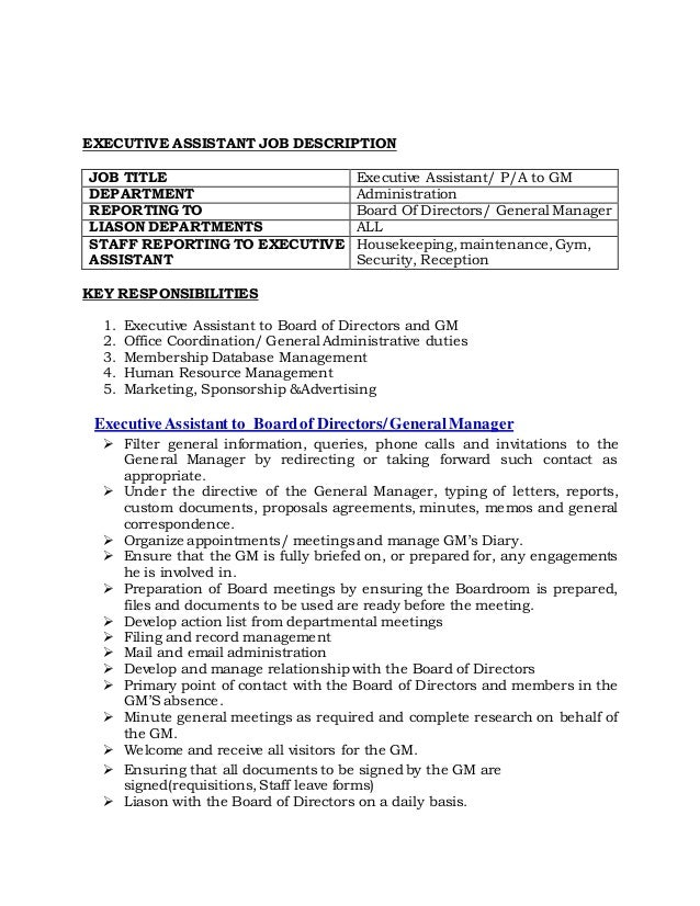 administrative duties and responsibilities pdf