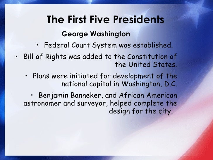7c first five presidents