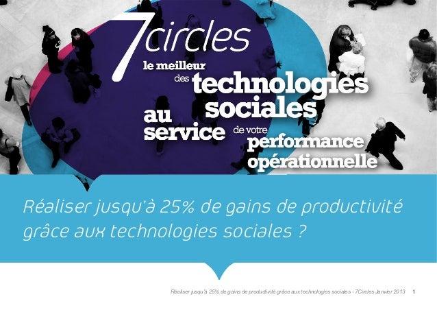 Réaliser jusqu'à 25% de gains de productivitégrâce aux technologies sociales ?                 Réaliser jusqu'à 25% de gai...