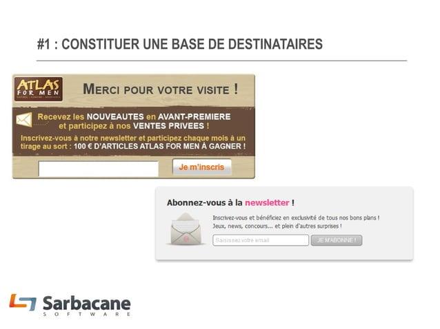 #1 : CONSTITUER UNE BASE DE DESTINATAIRES