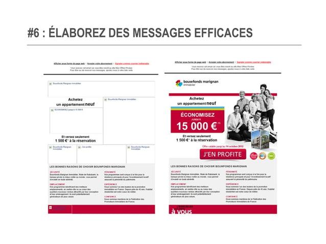 #6 : ÉLABOREZ DES MESSAGES EFFICACES Fenêtre de prévisualisation, pensez-y !