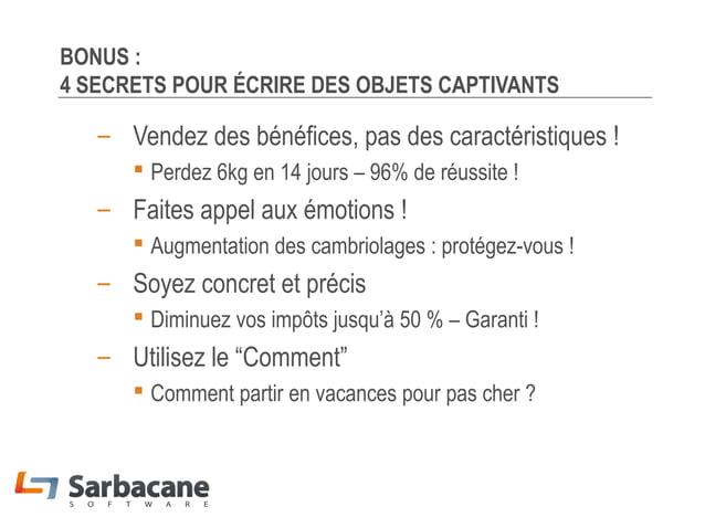 MERCI !  Téléchargez gratuitement Sarbacane Et découvrez nos livres blancs gratuits L'emailing efficace Guillaume Fleureau...