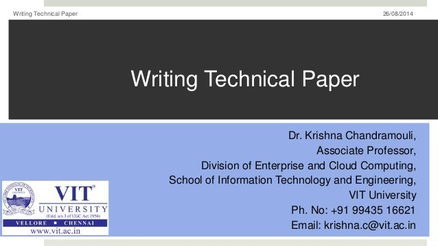 Writing technical paper