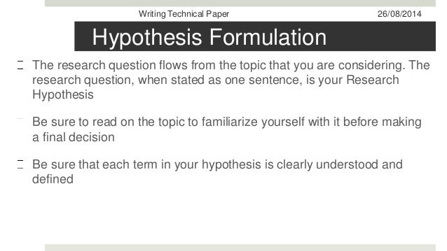 problem formulation and identification paper The formulation of the research problem is the most preliminary step in the research process distinguishing or selecting the subject area is the first step in the research problem formulation the principles that apply to choosing a title for the research paper are the same as.