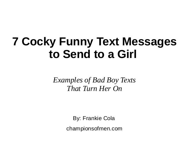 Text message to send a girl