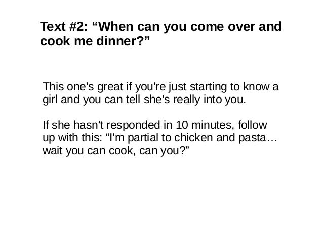 Cocky Texts To Send A Girl