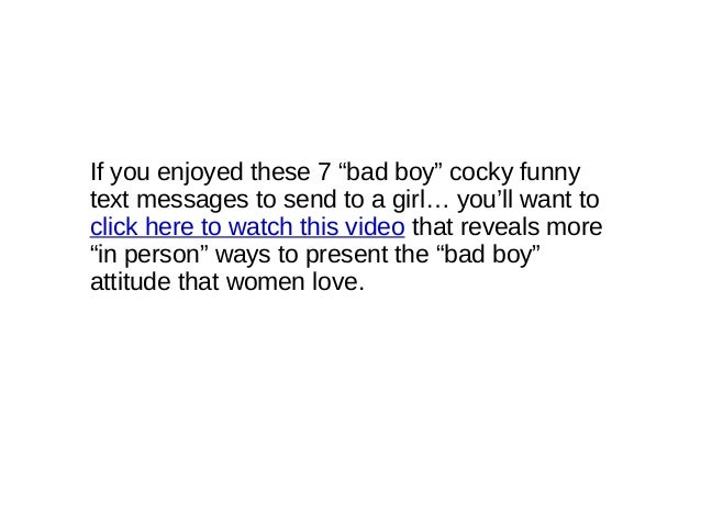 A Send Cocky To Girl Texts