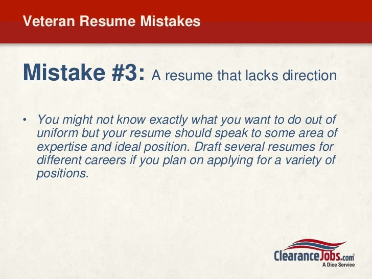 veterans  get your resume job search ready