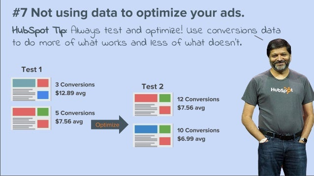 HubSpot Tip: Always test and optimize! Use conversions data to do more of what works and less of what doesn't.