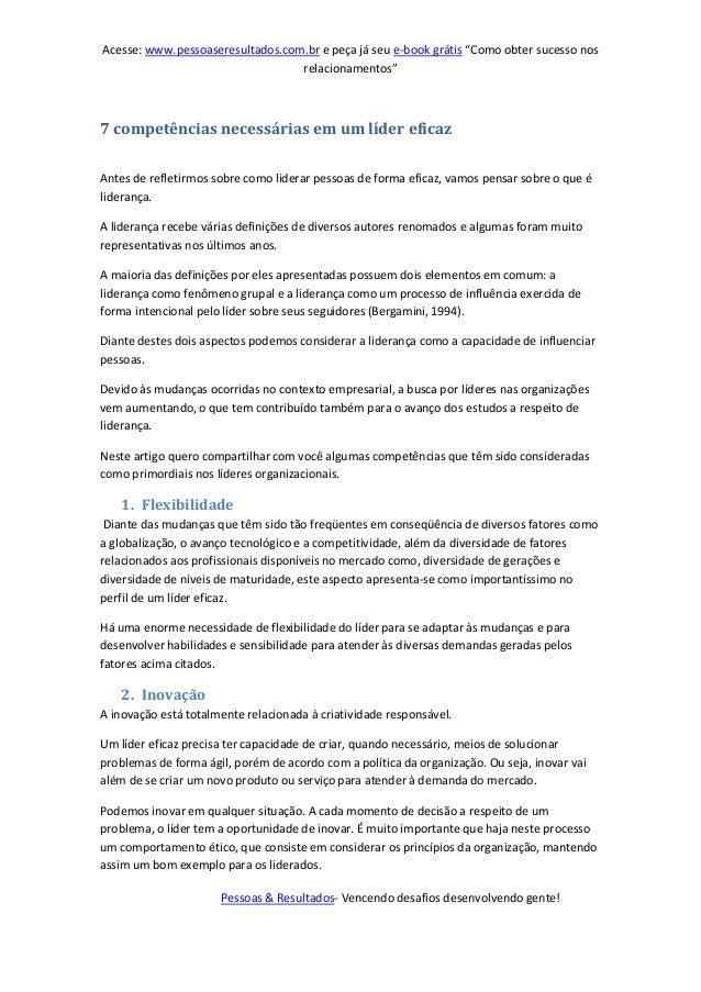 """Acesse: www.pessoaseresultados.com.br e peça já seu e-book grátis """"Como obter sucesso nos relacionamentos"""" Pessoas & Resul..."""