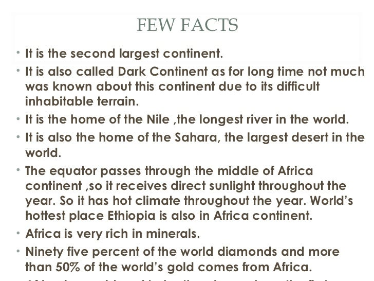 continents facts interesting fun
