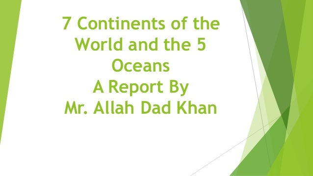 7 continents and 5 oceans pdf