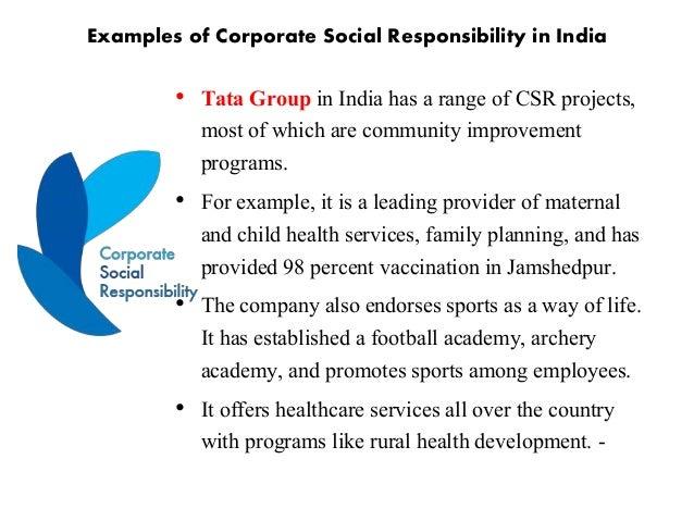 community responsibility examples