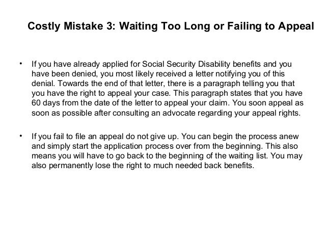 social security denial letter request form 7 costly mistakes that can ruin your ssd claim 12708 | 7 costly mistakes that can ruin your ssd claim 4 638