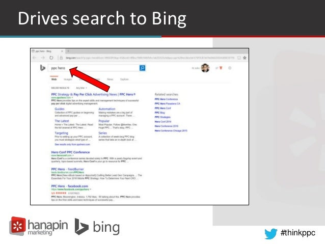 #thinkppc Drives search to Bing