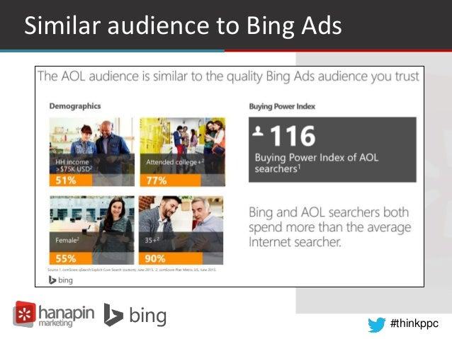 #thinkppc Similar audience to Bing Ads