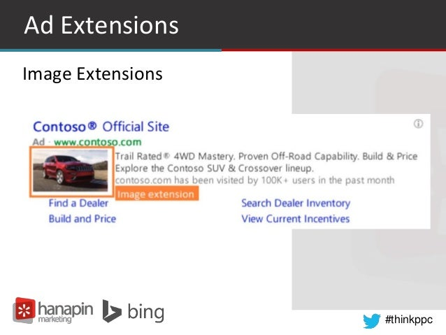 #thinkppc Ad Extensions Image Extensions