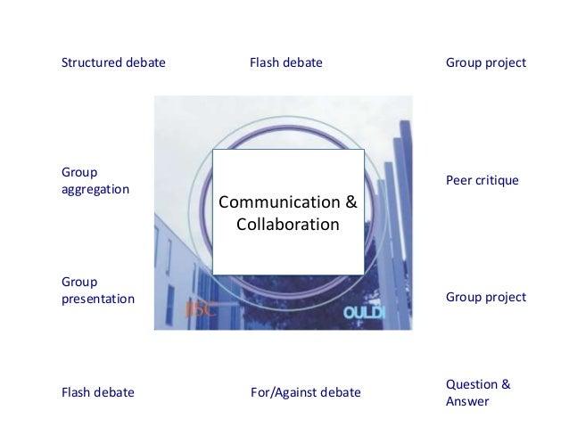 Structured debate      Flash debate         Group projectGroup                                            Peer critiqueagg...