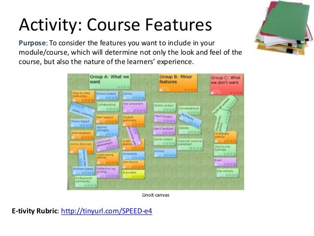 Activity: Course Features  Purpose: To consider the features you want to include in your  module/course, which will determ...