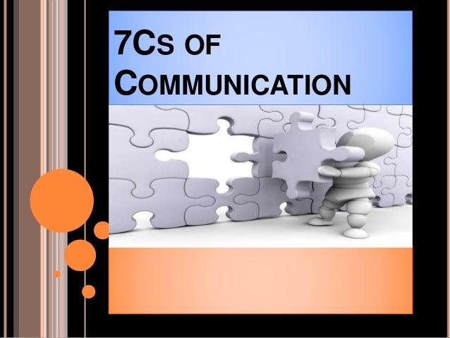 7CS OF COMMUNICATION