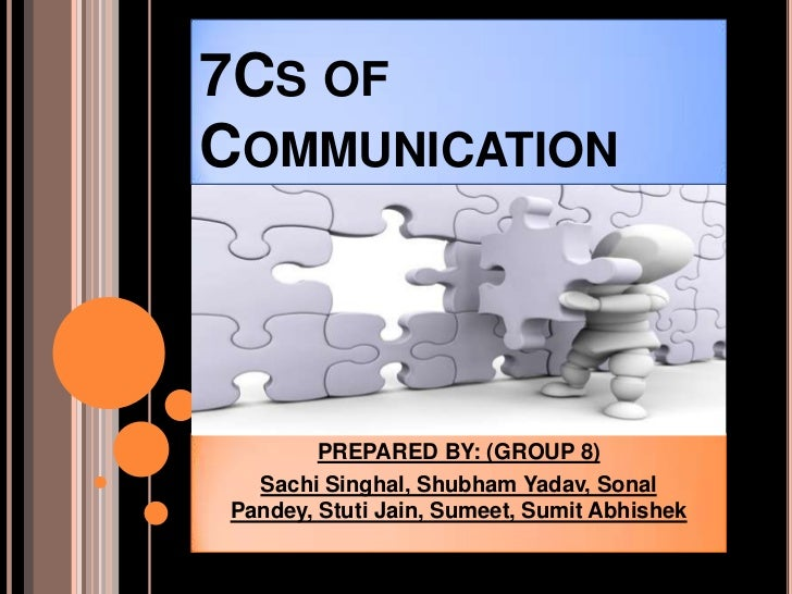 7CS OFCOMMUNICATION        PREPARED BY: (GROUP 8)  Sachi Singhal, Shubham Yadav, SonalPandey, Stuti Jain, Sumeet, Sumit Ab...