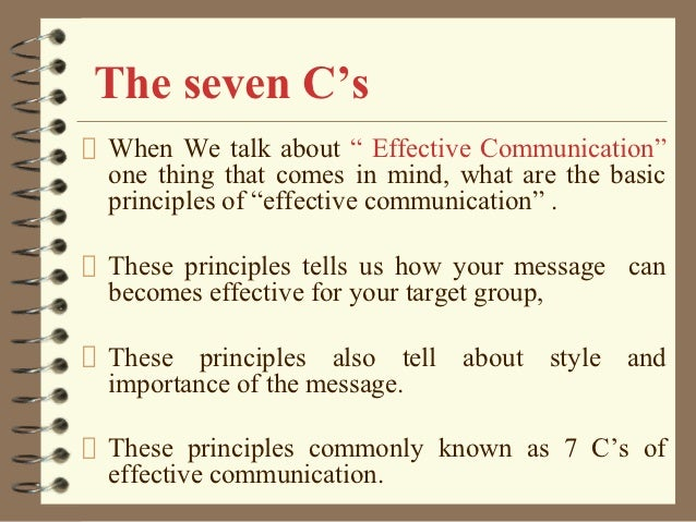 7 cs of communication Communication process elements: a message: the idea or thought which needs to be communicated a messenger: the person who has something to communicate 7 cs of communication - amazon s3essential 7c's of effective communication considerate.