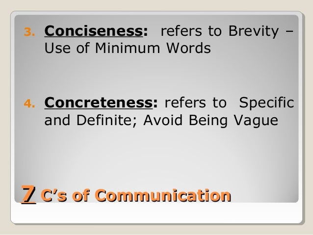 7 Credentials of Communication or 7 C's of Communication Slide 3