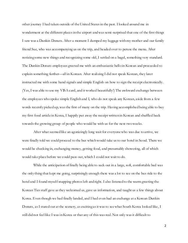 writing sample emerson essay   2 2 other journey