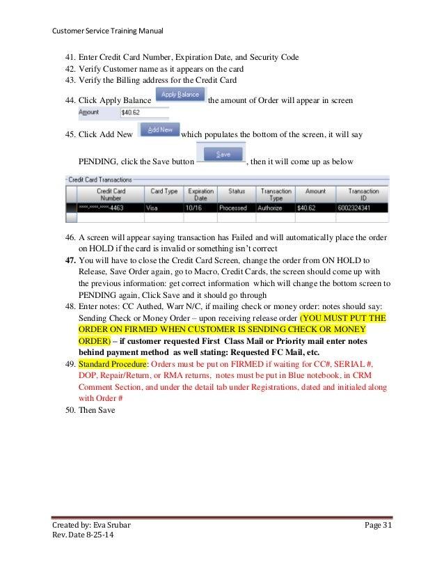 MA00509-Customer Service Training Manual