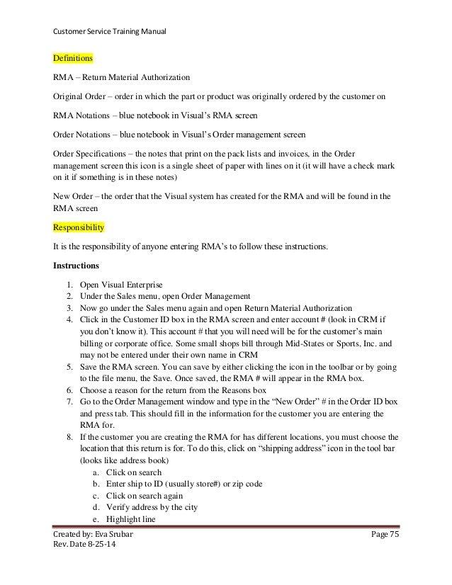 ma00509 customer service training manual rh slideshare net customer service manual sample customer service manual john lewis