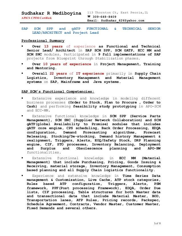 sudhakar resume 3 technical n functional project lead rh slideshare net