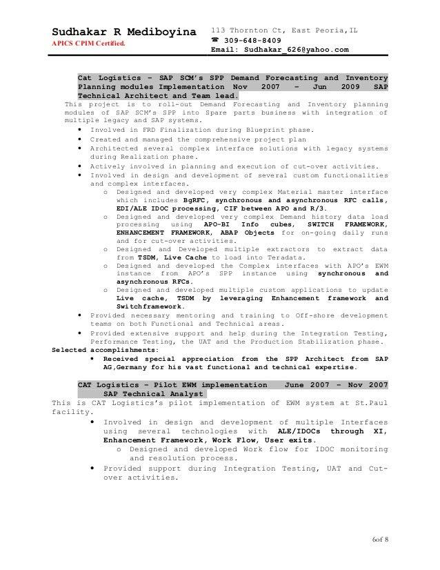 sudhakar resume 3 technical n functional project lead