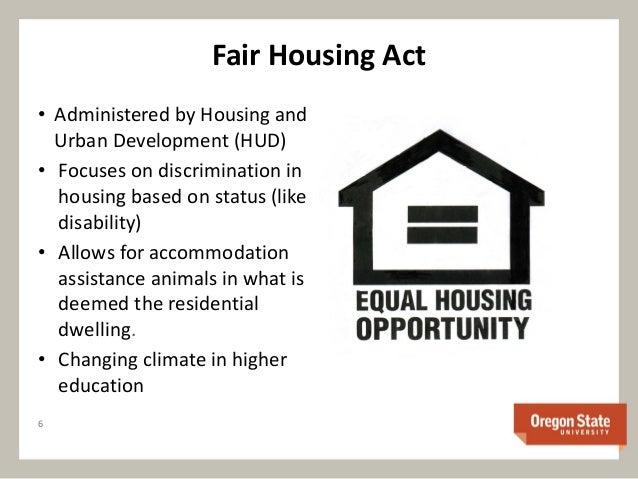 Fair Housing Act Assistance Dog