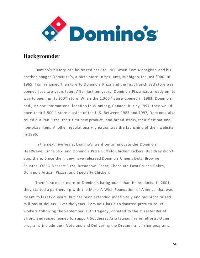 Second Dominos Paper