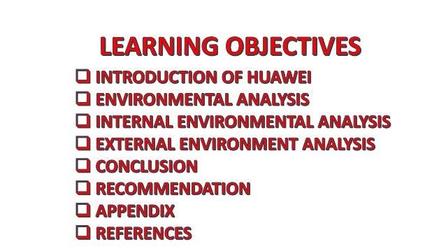 ENVIRONMENTAL ANALYSIS OF HUAWEI Slide 2