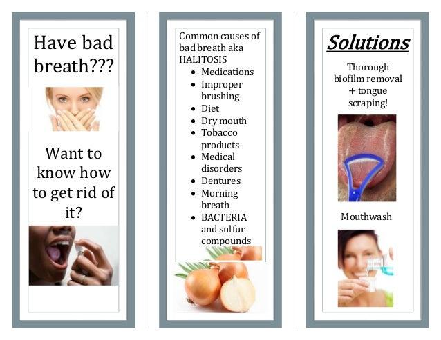 bad breath brochure