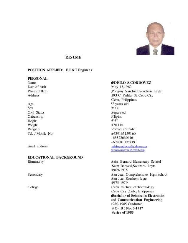 resume ed3