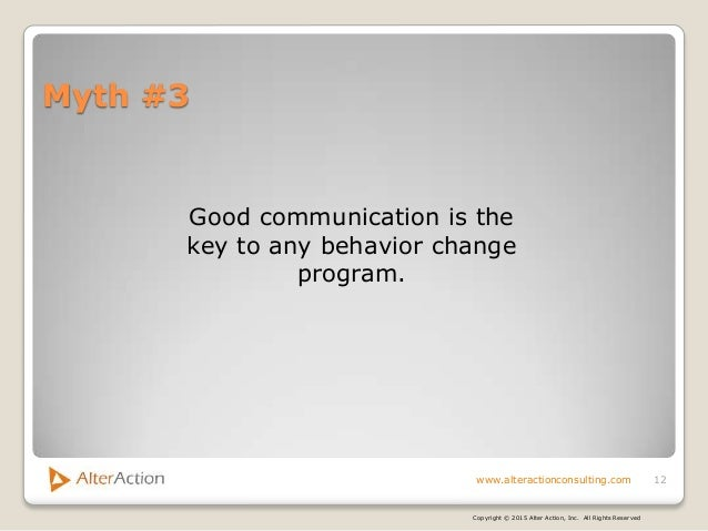 the three common misconceptions on behavior change Adams and white present three main reasons why stages of change may not  is  the aforementioned issue of misconception of personal levels of activity  social  marketing and ecological models of health behavior change.